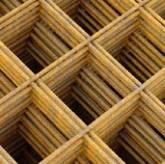 Gaaspaneel Blank - roestig maas wijdte 150 x 150 mm -- draad dikte 5 mm-0