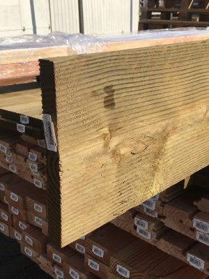 Douglas plank 22 x 200 mm geimpregneerd fijnbezaagd-0