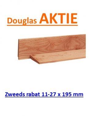 Zweeds Rabat Douglas blank onbehandeld 195 mm breed (180 mm werkend) zeer beperkt leverbaar informeer EERST-0