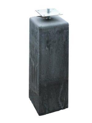 Betonpoer 18 x 18 x 50 cm antraciet incl. bevestiging -0
