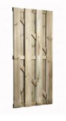 Tuindeur Basis + Grenen 16 x 140 mm planken Verticaal 180 cm hoog-0