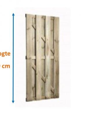 Tuindeur Basis XXL Grenen 16 x 140 mm planken Verticaal 199 cm hoog-0