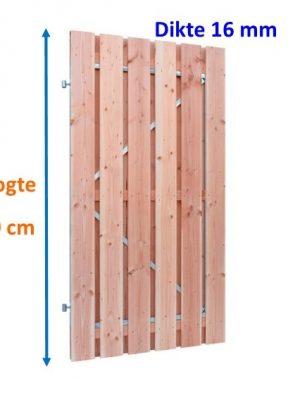 Tuindeur op stalen frame Douglas 16 x 140 mm verticaal 180 cm hoog-0