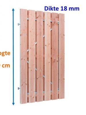 Tuindeur op stalen frame Douglas 18 x 160 mm verticaal 180 cm hoog-0