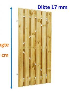 Tuindeur op stalen frame Grenen 16 x 140 mm verticaal 180 cm hoog-0