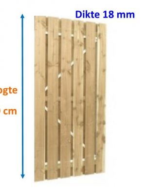 Tuindeur op stalen frame Scand vuren 18 x 145 mm verticaal 179 cm hoog-0