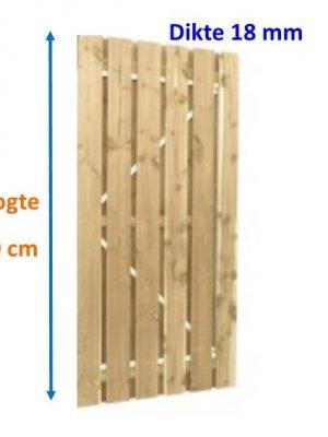Tuindeur op stalen frame Scand vuren 18 x 145 mm verticaal 200 cm hoog-0