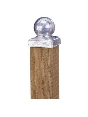 Paalornament metaal Bol verzinkt 7 x 7 cm W19501-0