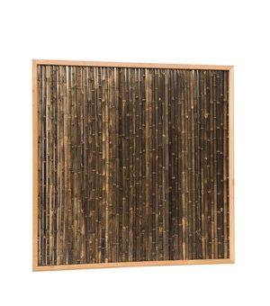 Bamboescherm met zwarte stokken in frame-0