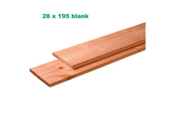 Plank Douglas 28 x 195 mm geschaafd / fijnbezaagd blank onbehandeld-2632