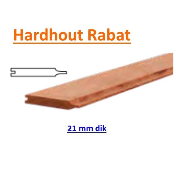Rabat Hardhout 21 x 145 mm Geschaafd -0