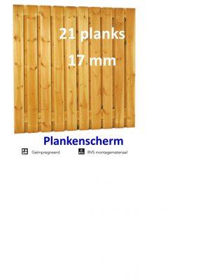 Plankenscherm Grenen Recht 17 mm 180 x 180 cm 21 PLANKS verticaal-0