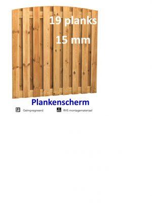 Plankenscherm Grenen Toog 15 mm 180 x 180 cm 19 PLANKS verticaal-0