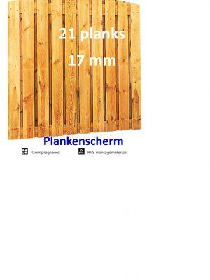 Plankenscherm Grenen Toog 17 mm 180 x 180 cm 21 PLANKS verticaal-0