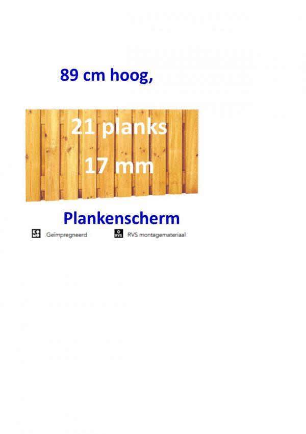 Plankenscherm Grenen Recht 17 mm 89 x 180 21 PLANKS verticaal-0