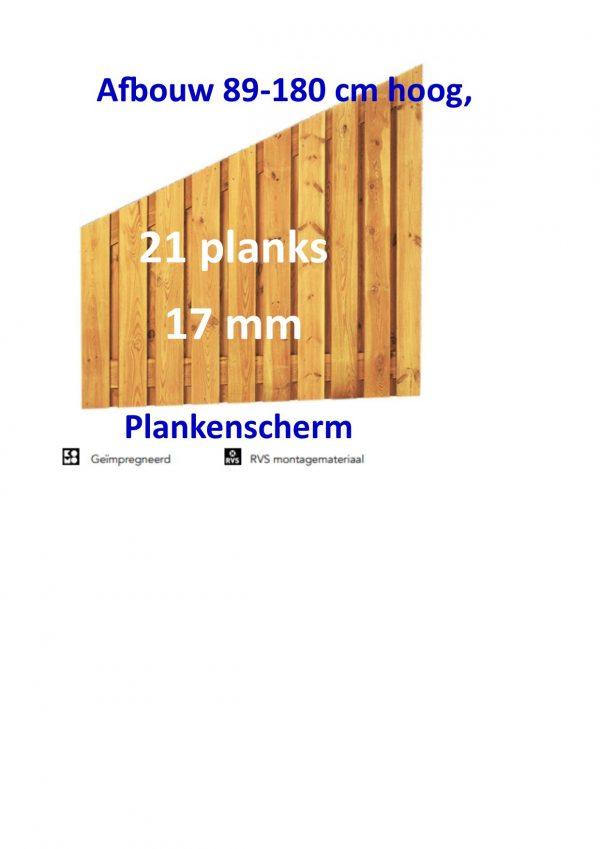 Plankenscherm Grenen Recht 17 mm Afbouw 21 PLANKS verticaal-0