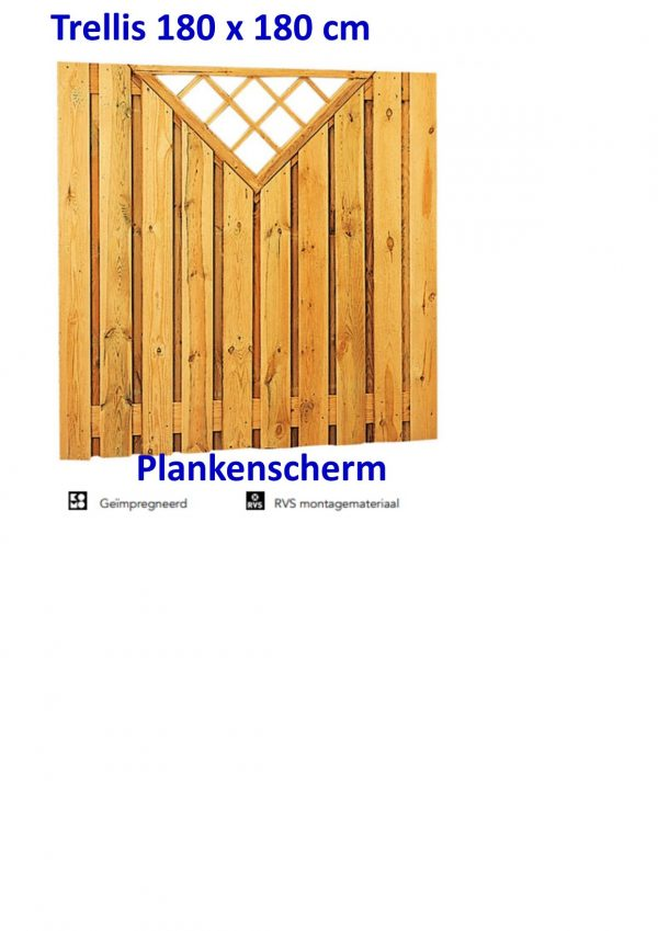 Plankenscherm Grenen Recht 17 mm Trellis 21 PLANKS -0