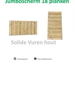 Jumboscherm 17 plank 90 x 180 cm horizon of verticaal 306193-0