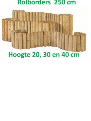 Rolborders geïmpregneerd 250 cm lang-0
