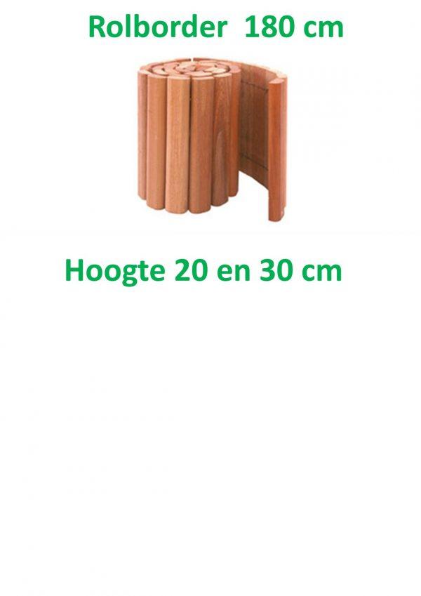 Rolborders hardhout 180 cm lang-0