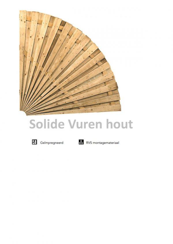 Waaierscherm 180 x 180 cm kwartcirkel W10017-0